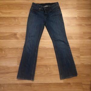 Levi's 525 Boot cut medium wash jeans